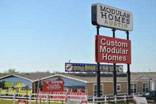 Modular Homes Austin Sign