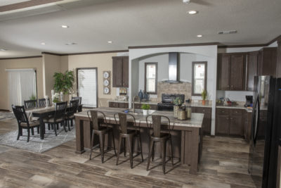 Kitchen in a modular home in Modular Homes Austin